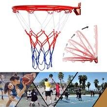 Баскетбольное кольцо 32 см, настенный металлический обруч, очень прочный, с винтами в виде сетчатой корзины, для занятий спортом в помещении ...