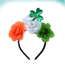 Headbands Rose Hair Hoops Girls Hair Accessories Headdress for Festival St. Patrick Day Party