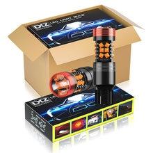 Dxz 10 pces canbus t20 7440 led w21/5w w21w bulbos 30-smd 1200lm 12v lente carro led sinal de volta reversa luz de freio lâmpada hd nenhum erro