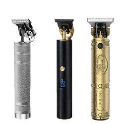 Men's Hair Trimmer Professional Hair Clipper Trimmer Beard Trimmer 0mm Cordless Haircut Electric Razor Cutter