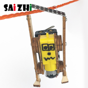 Saizhi DIY Electric Robot Rope Climbing Kids Science Discovery Toys STEM Education Physics Experiment Kit School Project