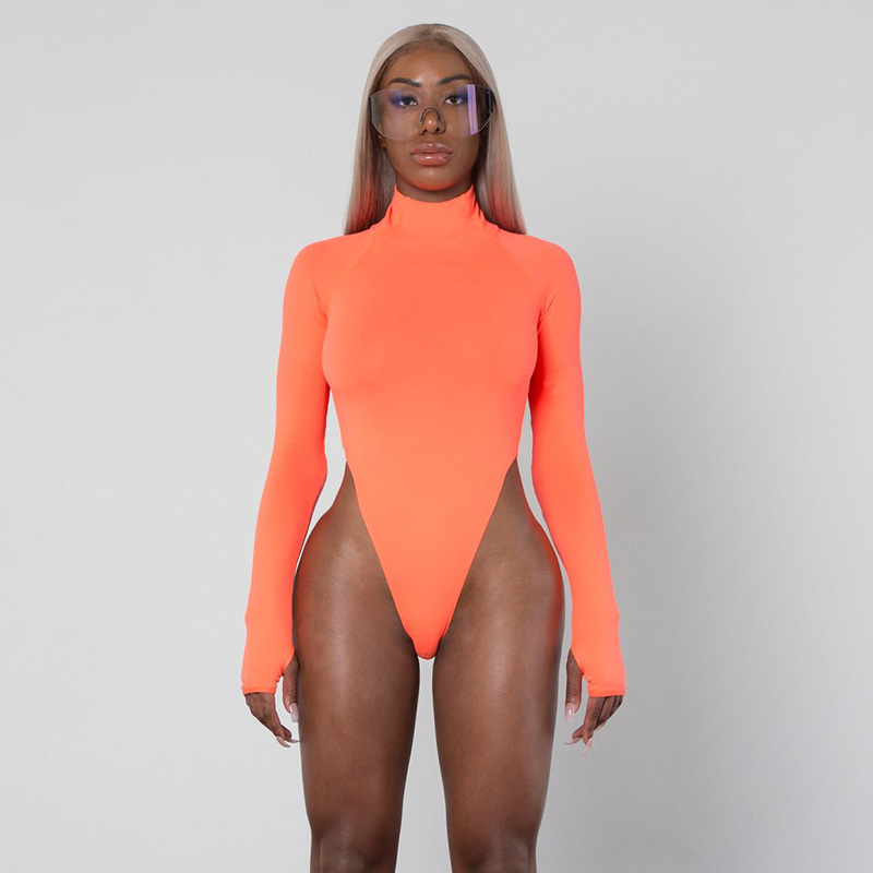 Women Long Sleeve Bodysuit Leotard Body Top Bodycon Bandage Rompers Womens Jumpsuits Romper Bodysuits Tops