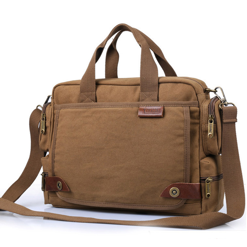 Men Crossbody Bag Canvas Multi-function Briefcase Handbag Business Male Big Capacity Casual Satchels Brand Shoulder Bag XA536ZC