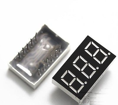 5PCS 0.36 Inch 3 Digit 7 Seg Segment Common Anode Led Display Red Diy Electronics