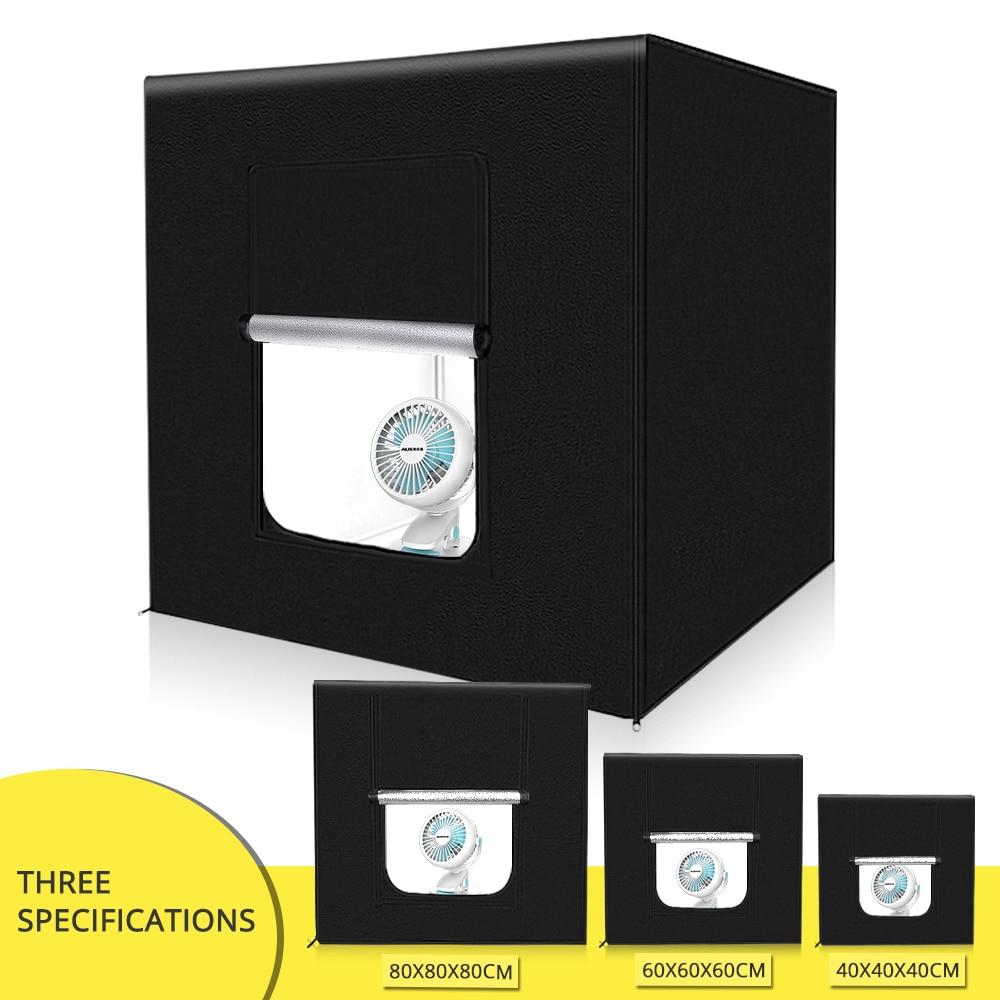 Travor 40 60 80 centímetros LEVOU Lightbox Foto Tenda Com 3 Cores Fundo Da Foto caixa de luz estúdio de fotografia Para Estúdio fotografia
