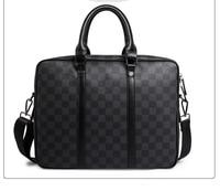 Classic Checkered Plaids Business Briefcase Elegant Laptop Bag Sales Partner Fomal Occasion Document Bag for Men and Women 2019