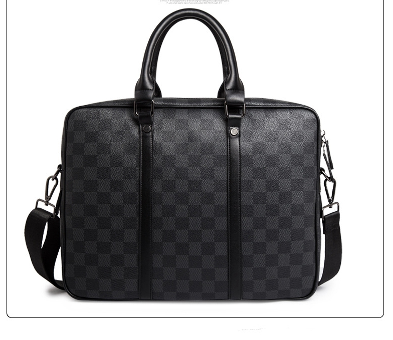 Classic Plaids Business Briefcase Elegant Laptop Bag Sales Partner Fomal Occasion Document Bag for Men and Women 2019 image