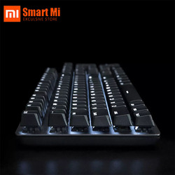 Xiaomi-Teclado mecánico MiiiW 600K, 6 modos de retroiluminación blanca, 104 teclas, juegos por cable USB, teclado Kailh, interruptor rojo, hogar, nuevos de oficina