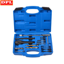 Damaged Glow Plug Removal Remover Thread Repair Drill Wrench Spark Plug Gap Extractor Tool Kit 8MM 10MM