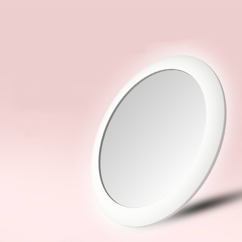 Makeup Mirror with LED Light Portable Compact Cosmetic Rechargeable Lighted Foldable Small Round Pocket Hand Mirrors drop ship