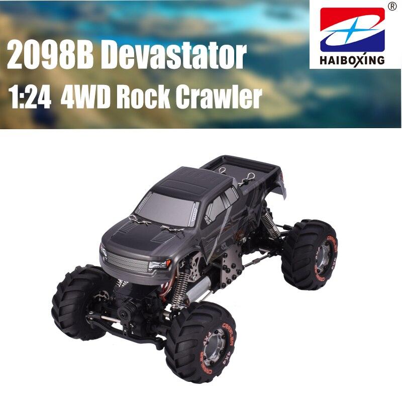 Oyuncaklar ve Hobi Ürünleri'ten RC Arabalar'de Yeni Yüksek Kaliteli HBX 2098B 1/24 RC Araba 4WD Mini RC Tırmanıcı/Paletli Metal Şasi Çocuk Oyuncak Yetişkinler'da  Grup 1