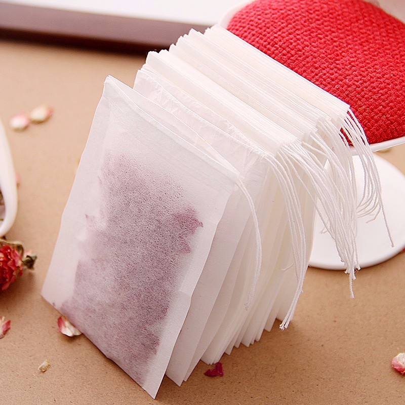 100Pcs/lot Disposable Tea Bags Empty Scented Tea Bag With String Heal Seal Filter Paper For Herb Loose Tea Empty Tea Bags