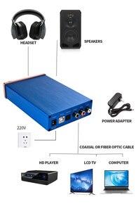 Image 5 - Kỹ Thuật Số Bộ Giải Mã Âm Thanh USB DAC Đầu Vào USB/Coaxial/Optical Đầu Ra RCA/6.35 Mm 192KHz DC12V Tai Nghe bộ Khuếch Đại Âm Thanh Chuyển Đổi