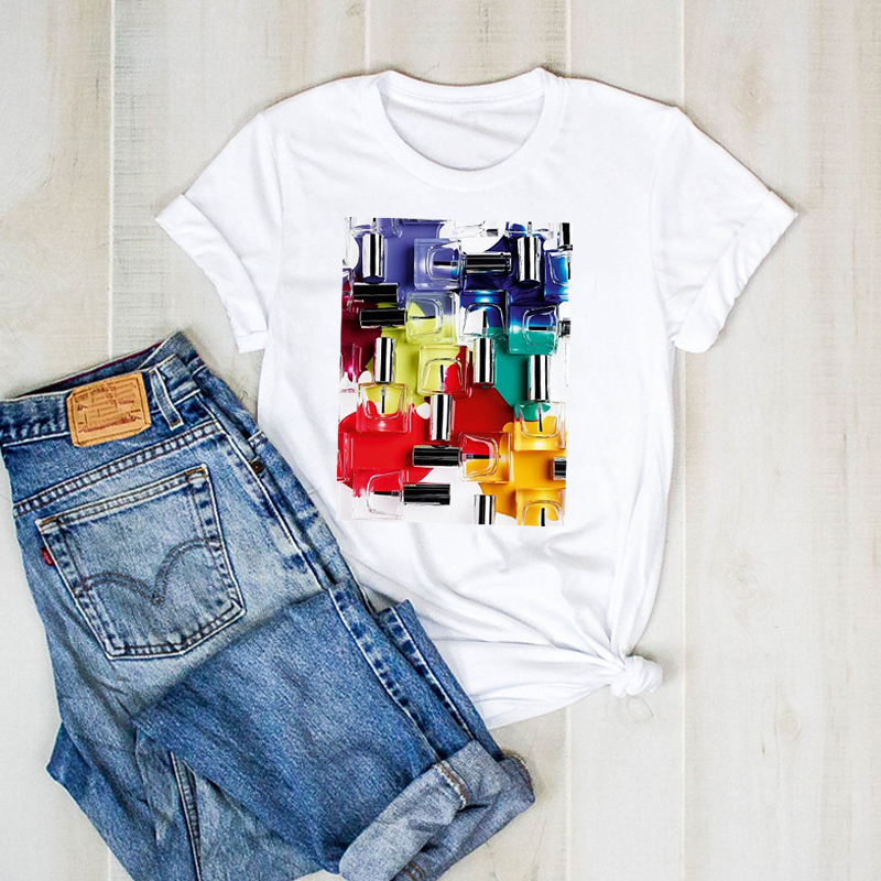 Lady Cute Clothing T Shirt Woman Graphic Top T-shirt Women Shirt Clothing Women 3D Fashion Printed T-shirt Painted Short Sleeve