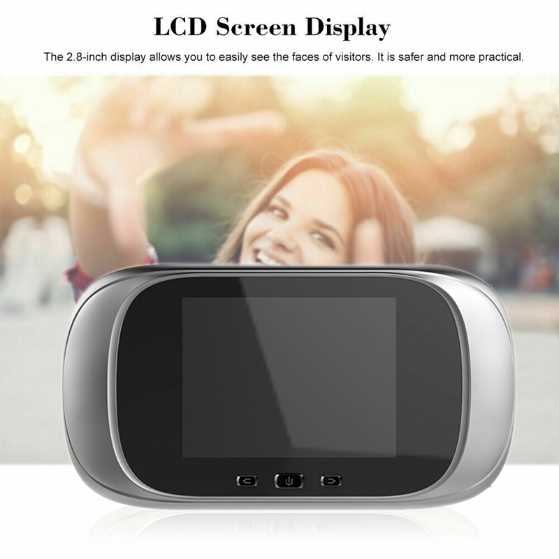 Digital Door Peephole Wifi Digital Doorbell Viewer 2.8Inch LED Screen 90 Degree Electronic Peephole Door Viewer