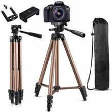 Trípode de cámara para trípode de teléfono para soporte de cámara para teléfono móvil Smartphone Canon Dslr proyector soporte monópode