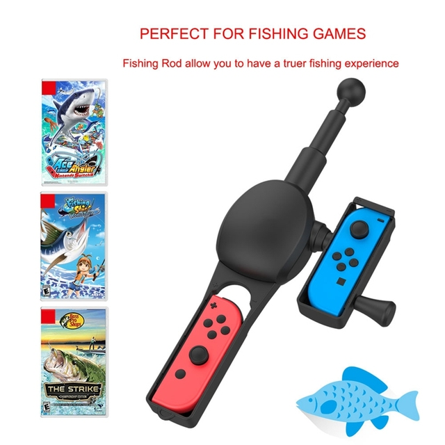 Fishing Rod For Nintend Switch Joy Con Fishing Game Controller Kit For Bass Pro Shops And Legendary Fishing Replacement Parts Accessories Aliexpress