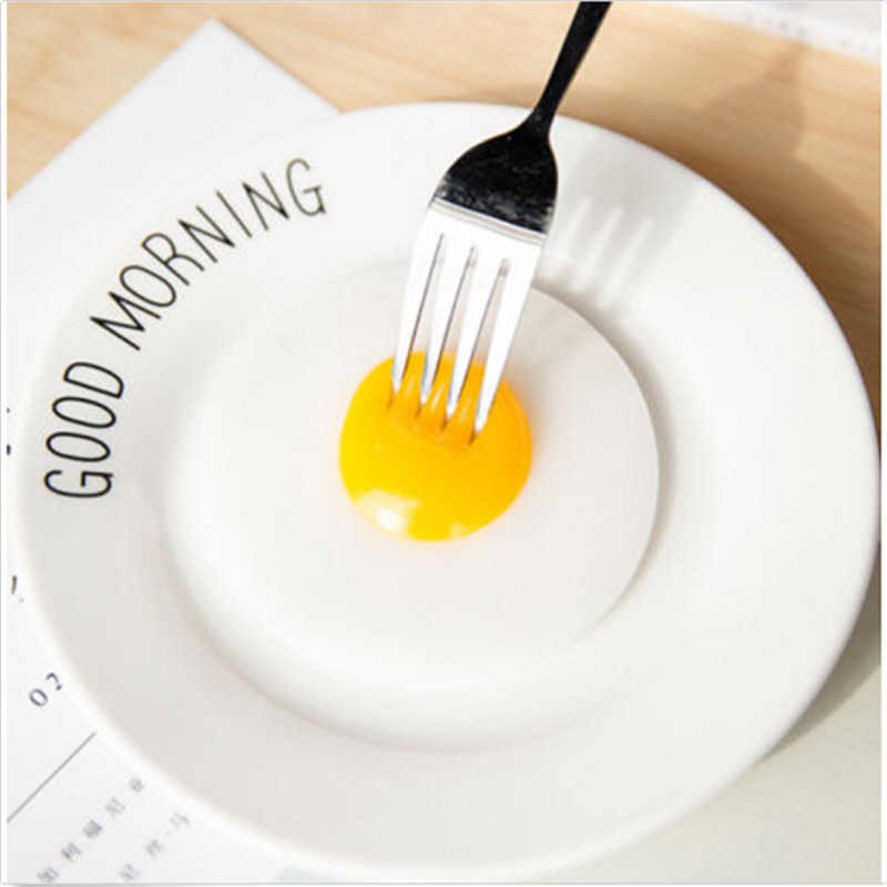 Creative Simulation Fried Egg Toys Adult Kids Funny Toy Relief Stress Gifts Prank Trick Toys Practical Jokes Toy