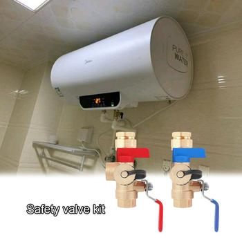3/4-Inch IPS Isolator Tankless Water Heater Service Valve Kit with Clean Brass Construction for Home Water Heater Repair Fix