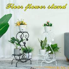 Простой металлический дисплей для цветочных растений, подставка для дома и сада, 3 яруса, стойка для хранения цветочных горшков, прочная Балконная подставка для цветов, 2 цвета