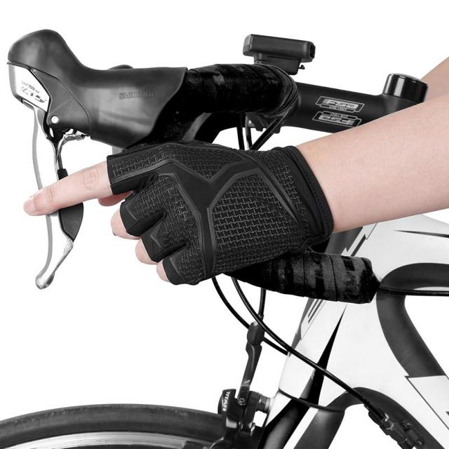 Fashion mountain road gloves half finger foam padded sports bike unisex road cycling gloves short fingers cycling equipment