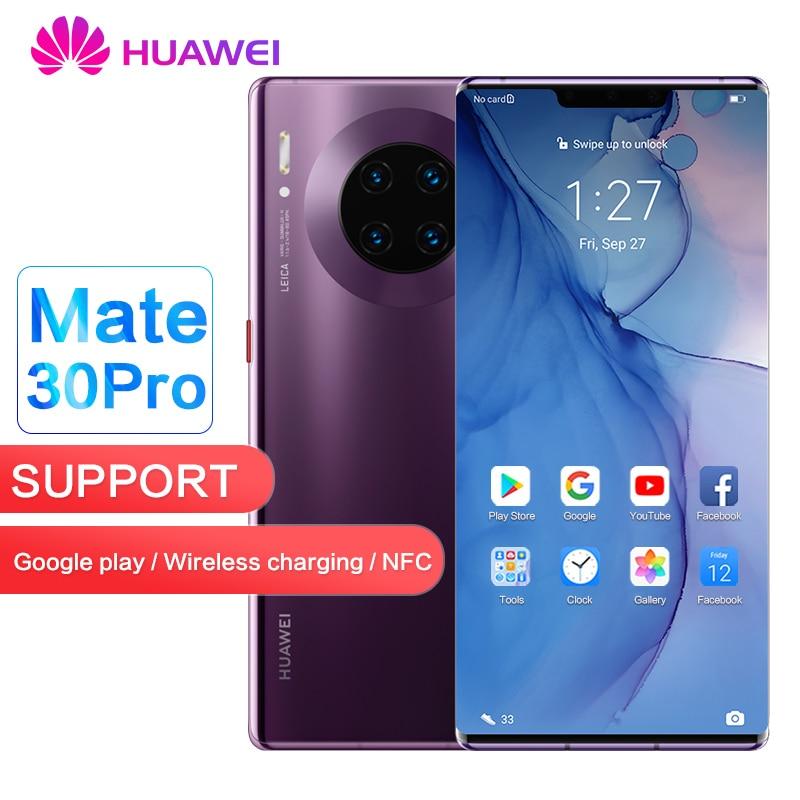 Huawei Mate 30 Pro Global ROM Support Google Play Store 8GB 128GB 256GB 40MP+40MP+32MP 6.53 Inch Kirin 990 Octa Core Mobilephone
