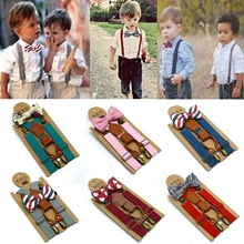 Suspenders Bow-Tie Baby-Boys Harness-Clip Braces Clothes-Accessory Gentleman Wedding-Matching