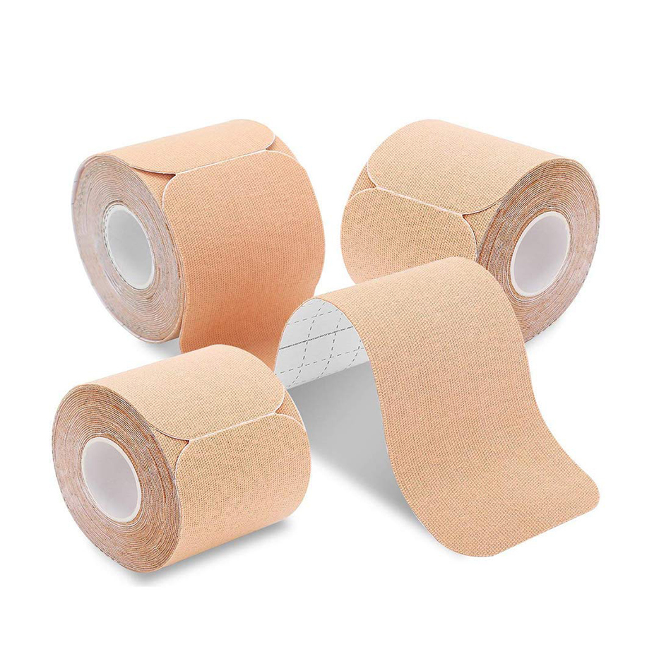 1pc Precut/Uncut Kinesiology Tape Cotton Tape Muscle Pain Relieve Fitness Breathable Waterproof Sports Therapeutic Adhesive Tape