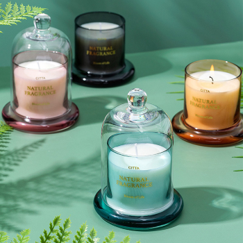 1PC High-End Aromatherapy  Smokeless Glass Scented Candle Bell Jar  1