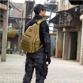 Men tactical chest-bag travel Wild camping back triangle shoulder bag outdoor riding backpack waterproof 14 inch computer bag outdoor military tactical shoulder bag with usb charging chest bag wear resistant travel camping backpack cycling