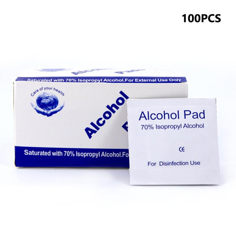 100Pcs Alcohol Wipes Disposable Disinfection Alcohol Wipes Alcohol Piece