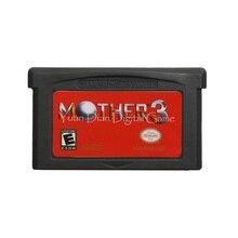 Para nintendo gba cartão de console cartucho de jogo de vídeo mãe 3 inglês língua eua versão