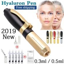 Новинка, ручка с гиалуроновой кислотой высокого давления, металлическая ручка высокой плотности для подтяжки губ против морщин, пистолет с гиалуроном, распылитель, гиалуроновая ручка