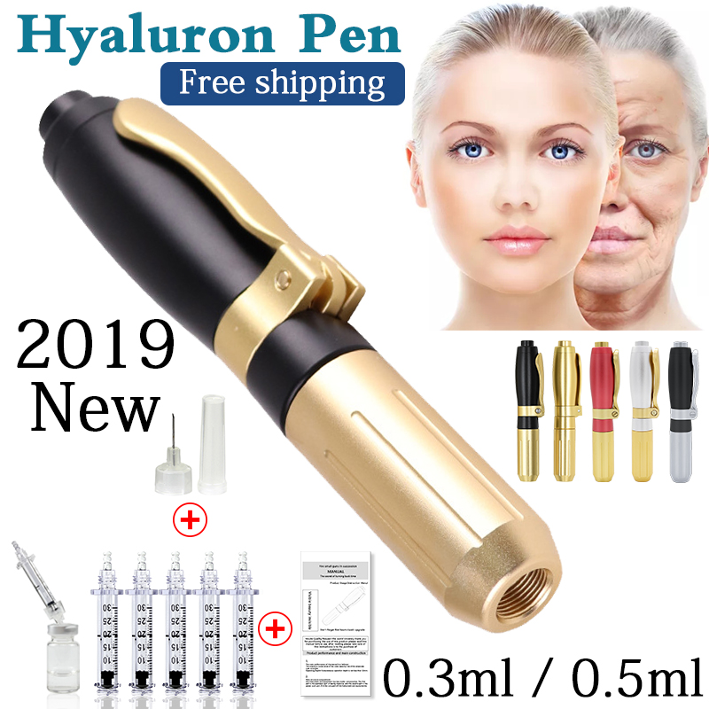 2019 Nova Caneta de metal de Alta densidade de Ácido Hialurônico de Alta Pressão Para Anti Rugas Levantamento Lábio hyaluron arma caneta atomizador hialurônico
