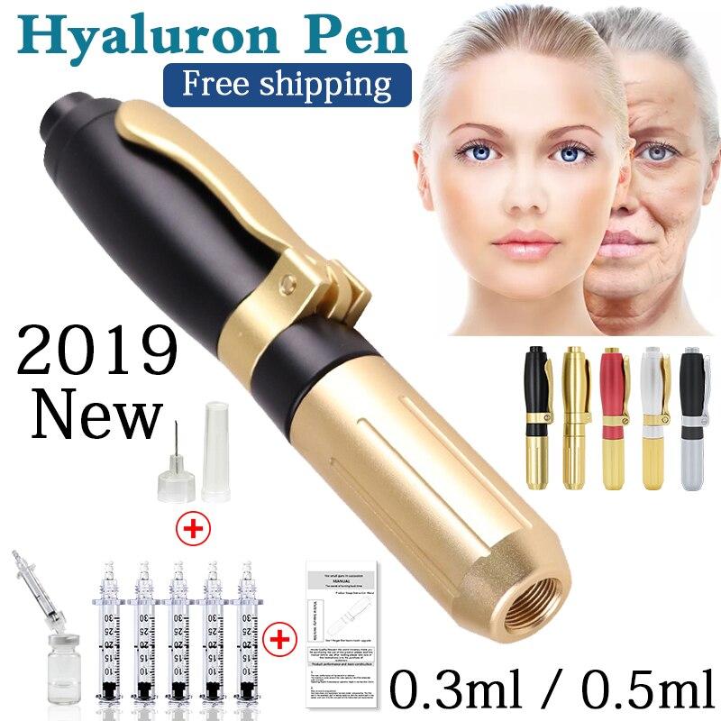 2019 nova alta pressão hialurônico ácido caneta alta densidade de metal para anti rugas lifting lábio hialuron arma atomizador hialurônico caneta