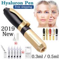 2019 nueva pluma de ácido hialurónico de alta presión de metal de alta densidad para lápiz hialurónico antiarrugas