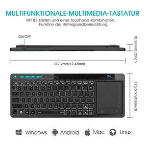 Image 4 - Rii K18 Plus Drahtlose Multimedia Englisch Russisch Spanisch Hebräisch Tastatur 3 LED Farbe Hintergrundbeleuchtung mit Multi Touch für TV Box,PC