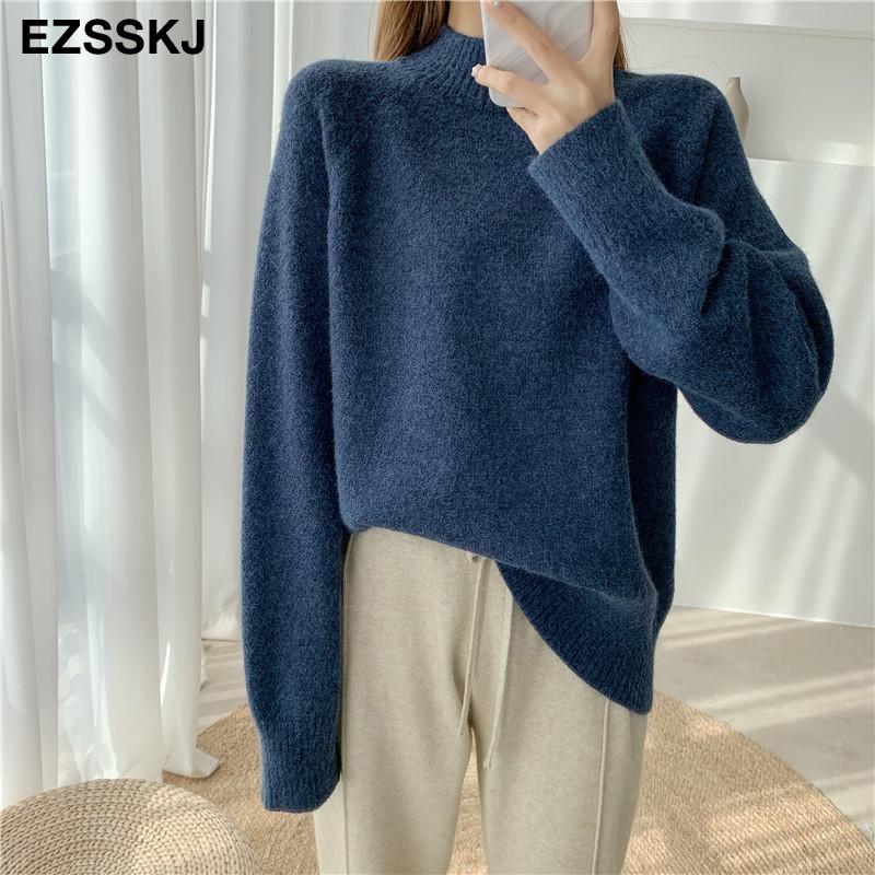 warm women's sweaters 2020  thick Autumn Winter women's wool sweater oversize female Women chic female loose women's jumper pull