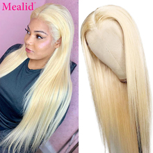 Remy Transparent 613 Blonde Lace Front Human Hair Wigs Brazilian Straight Hair Lace Front Wigs 150% Preplucked With Baby Hair