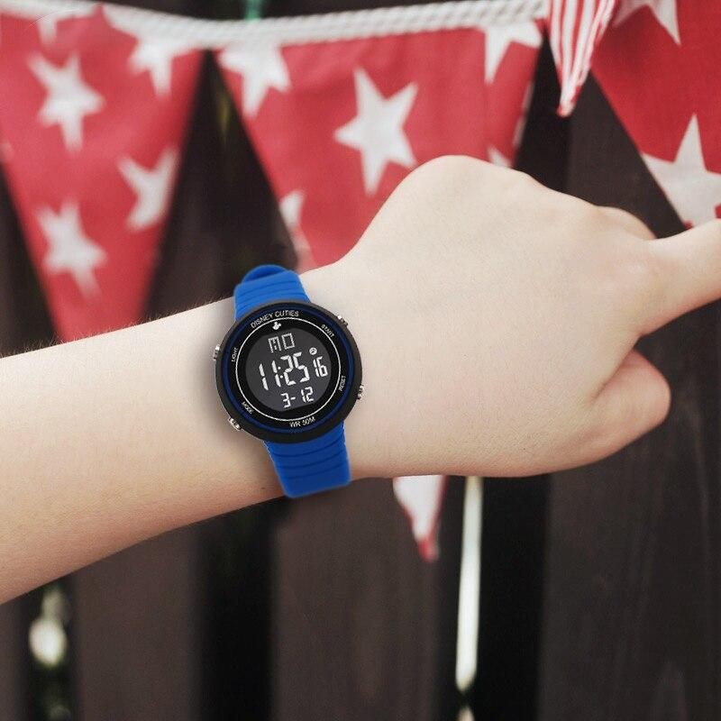 DISNEY montres enfants montre montre-bracelet numérique LED enfants garçons Girs étudiants horloge étanche Sport cadeau