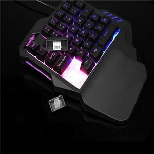 Image 5 - Mobile phone Gaming keyboard macro recording keys 35keys Mini usb Single hand 6400DPI wired Mouse Combos 7colors Backlight