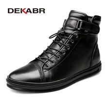 DEKABR Brand Winter Warm Men Snow Boots High Top Fur Men's B