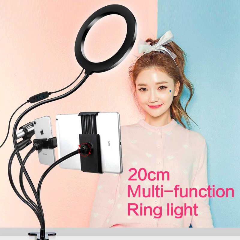 Anello di Luce A LED kit per il Trucco YouTube Video Luce Anello youtuber 8inch ha condotto la luce per la fotografia per iPad Microfono Del Telefono supporto