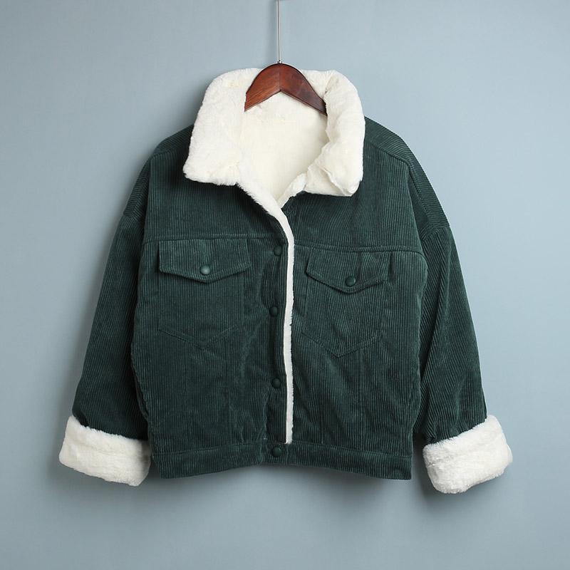 Vintage Stylish Women s Jacket Fleece Coat Women 2020 Autumn Winter Female Hooded Jacket Warm Long