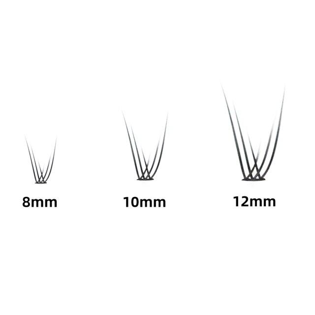 Grafting World Fish Tail Eyelash 8mm/10mm/12mm Dove Tail Individual Eyelash Extensions 5