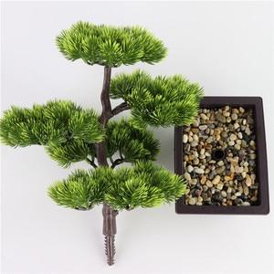 Image 4 - fleurs artificielles Simulation pin aiguilles cyprès plantes bonsaï fausse fleur plantes artificielles pots intérieur maison salon décoration créative