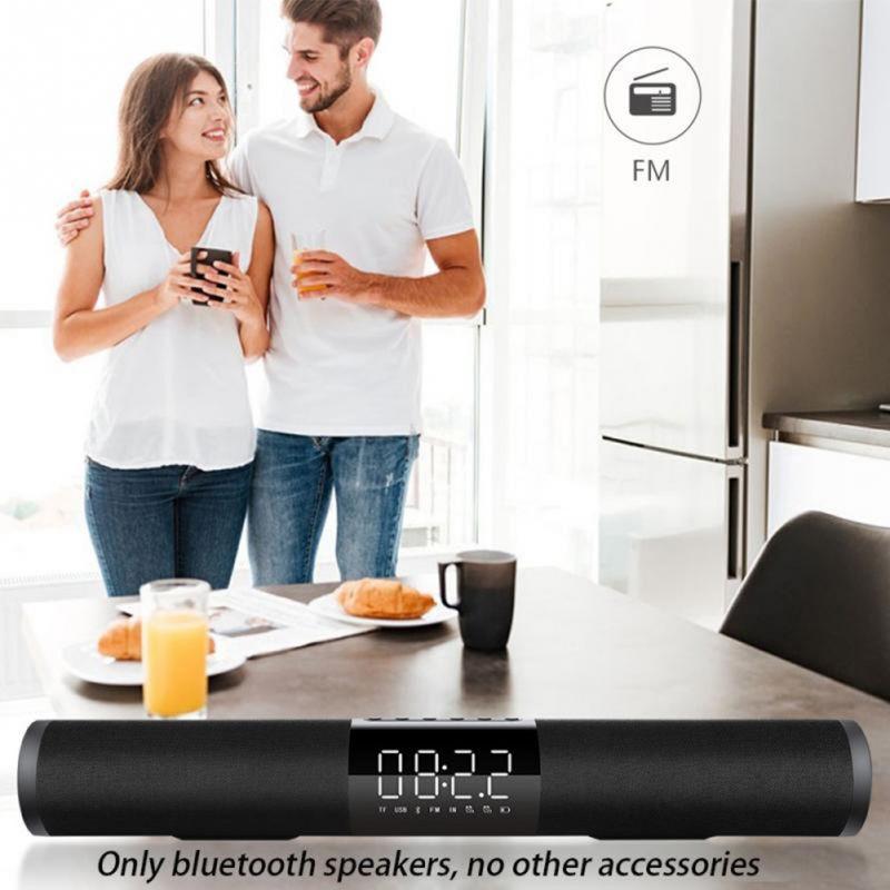Haut-parleur Bluetooth Portable à la maison Surround Subwoofer noir haut-parleur Bluetooth avec réveil sans support nouveau