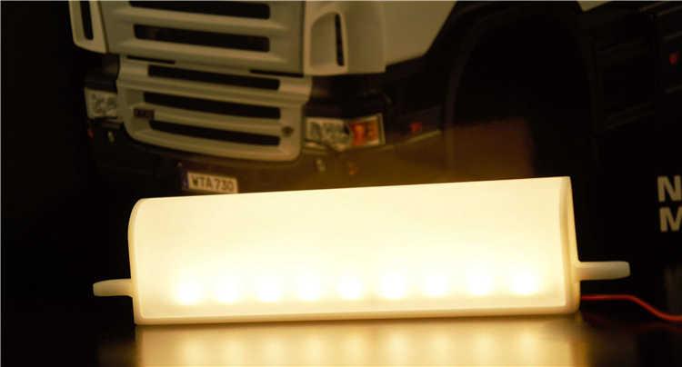 Rc Truck Plastic Front Led Reclame Advertentie Lichtbak Voor 1/14 Tamiya Rc Truck Man Scania Actros