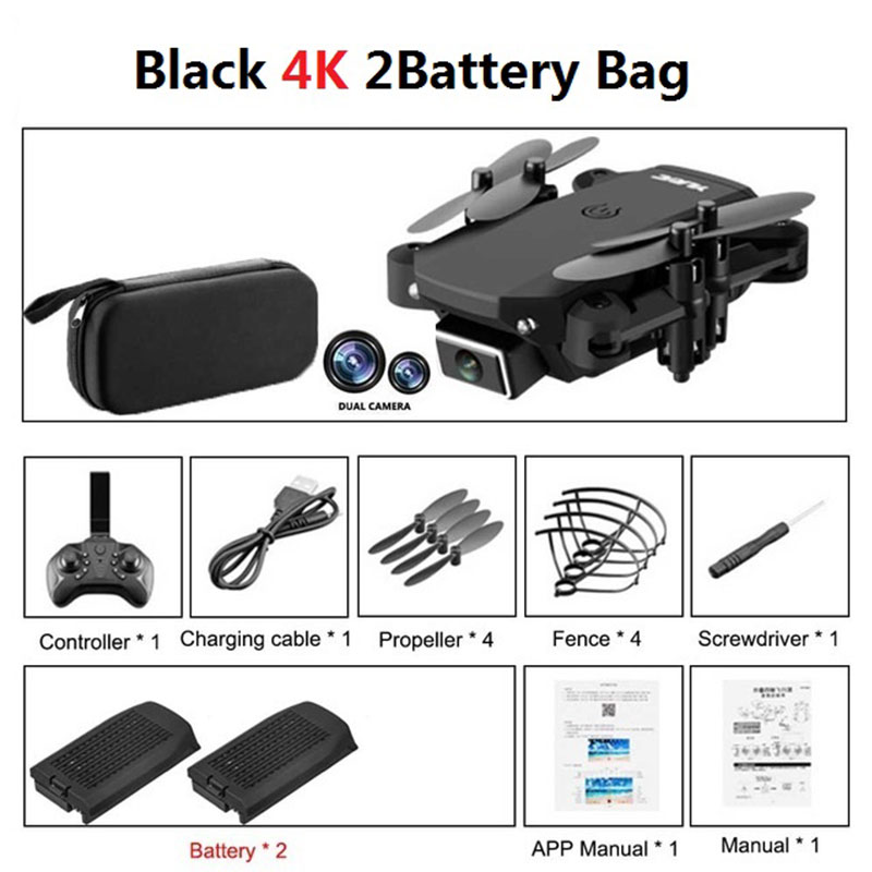 S66 Mini RC Drone 4K HD Camera Professional Aerial Photography Helicopter Gravity Induction Folding Quadcopter