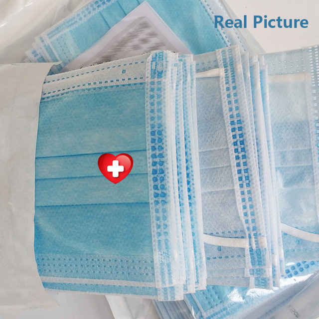 20 pcs/Bag Medical Mask Mouth Face Mask Anti Virus Dust disposable Mask Protective flu bacteria Filter masks Medical Surgical 1